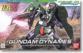 Bandai 3 Gundam Dynames HG Snap Together Plastic Model Figure #151920
