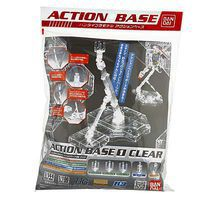 Bandai Clear Display Stand Action Base Plastic Model Display Case 1/100 Scale #152159