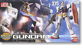 Bandai RX-78-2 GUNDAM Mega Size Snap Together Plastic Model Figure #162027
