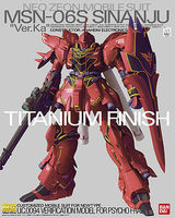 Bandai MSN-06S SINANJU Ver.Ka MG Snap Together Plastic Model Figure #162051