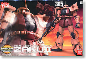 Bandai MS-06S CHARS ZAKU II Mega Siz Snap Together Plastic Model Figure #165663