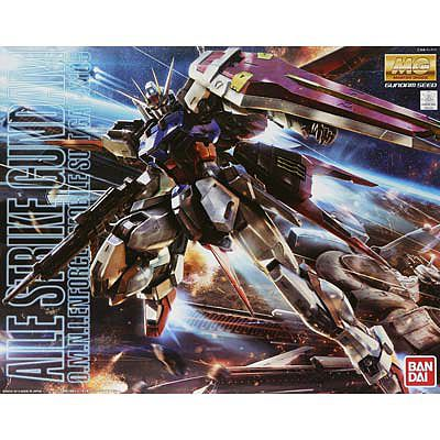 Bandai Models MG 1/100 Aile Strike Gundam Ver. RM -- Snap Together Plastic Model Figure -- #181349