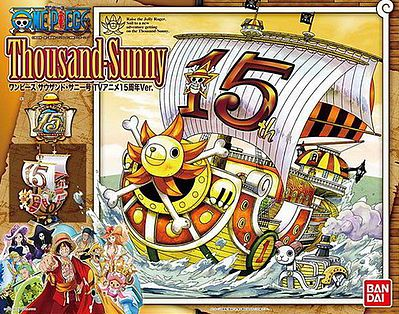 Bandai Models THOUSAND SUNNY MODEL SHIP 15th -- Snap Together Plastic Model Figure -- #192074