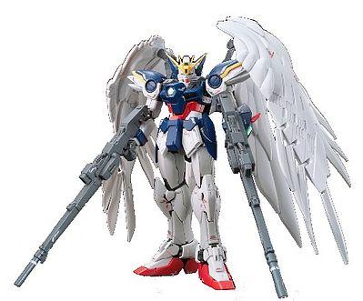 Bandai Gundam Real Grade Series- #17 Wing Gundam Zero EW Plastic Snap Figure 1/144 Scale #194380. >