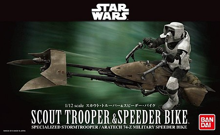 Bandai 1/12 Star Wars- Scout Trooper & Speeder Bike (Snap)