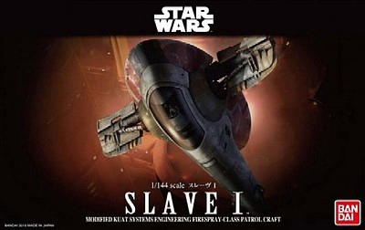 Bandai Slave I Star Wars Snap Tite Plastic Model Figure 1/144 Scale #200638