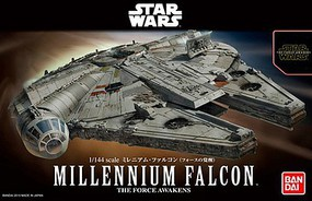 Bandai Millennium Falcon Star Wars Force Awakens Snap Tite Plastic Model Figure 1/144 #202288