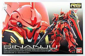 Bandai RG MSN-06S Sinanju Gundam UC Snap Together Plastic Model Figure 1/144 Scale #207590