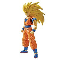 Bandai Super Saiyan 3 Son Goku Dragon Ball Z Snap Together Plastic Model Figure #209446
