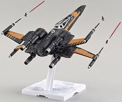 Bandai Poe's X-Wing Fighter Star Wars Force Awaken Snap Tite Plastic Model Figure 1/72 #210500