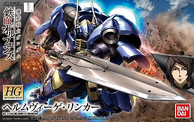 Bandai Models Helmwige Linker Gundam IBO Bandai HG -- Snap Together Plastic Model Figure -- 1/144 -- #212962
