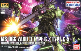 Bandai 1/144 Zaku II Type C/Type C-5 The Origin BAN HG