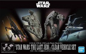 Bandai Star Wars The Last Jedi- Clear Vehicle Set (4 Kits Multi Scale)