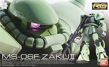 Bandai RG #4 MS-06F Zaku II 1/144 Snap Together Plastic Model Figure 1/144 Scale #170388
