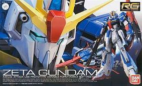 Bandai Gundam Real Grade Series- #10 Zeta Gundam Snap Together Plastic Model Figure 1/144 #178539