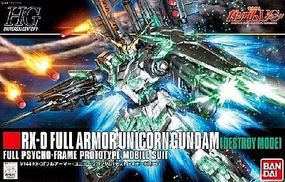 Bandai #178 Full Armor Unicorn Gundam Destroy Plastic Snap Figure 1/144 Scale #189487