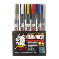 Bandai Gundam Marker Basic Set of 6 Hobby Craft Paint Marker #gms105