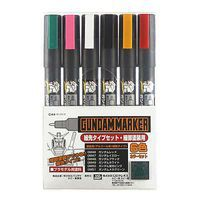 Bandai Gundam Marker Ultra Fine Set of 6 Hobby Craft Paint Marker #gms110