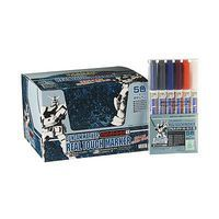 Bandai Gundam Marker Real Touch #1 Set of 6 Hobby Craft Paint Marker #gms112