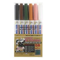 Bandai Gundam Marker Real Touch #2 Set of 6 Hobby Craft Paint Marker #gms113