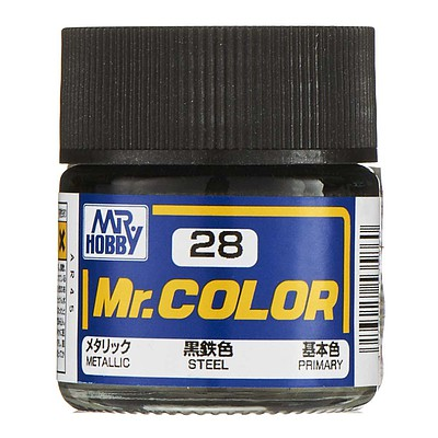 Bandai Models Metallic Steel 10ml -- Hobby and Model Acrylic Paint -- #gnz-c28