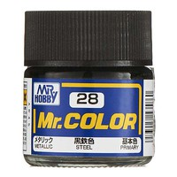 Bandai Metallic Steel 10ml Hobby and Model Acrylic Paint #gnz-c28