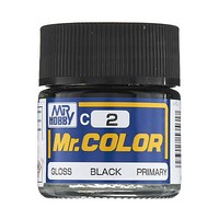 Bandai Gloss Black 10ml Hobby and Model Acrylic Paint #gnz-c2