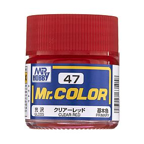 Bandai Gloss Clear Red 10ml Hobby and Model Acrylic Paint #gnz-c47