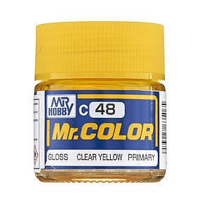 Bandai Gloss Clear Yellow 10ml Hobby and Model Acrylic Paint #gnz-c48