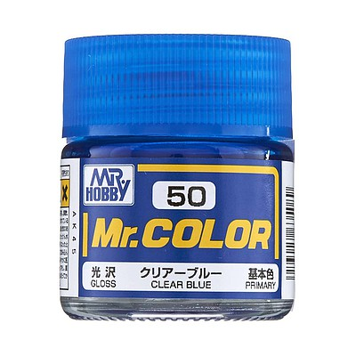 Bandai Models Gloss Clear Blue 10ml -- Hobby and Model Acrylic Paint -- #gnz-c50