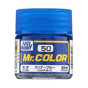 Bandai Gloss Clear Blue 10ml Hobby and Model Acrylic Paint #gnz-c50