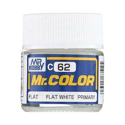 Bandai Models Flat White 10ml -- Hobby and Model Acrylic Paint -- #gnz-c62