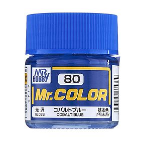 Bandai Semi Gloss Cobalt Blue 10ml Hobby and Model Acrylic Paint #gnz-c80