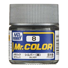 Bandai Metallic Silver 10ml Hobby and Model Acrylic Paint #gnz-c8
