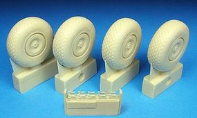 Barracuda He219 Diamond Tread Main Wheels for a Revell Model Plastic Model Airplane Wheel 1/32 #32062
