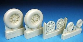 Barracuda Corsair & Hellcat Wheels, Plain Tread for Tamiya Plastic Model Airplane Wheel 1/32 #32118