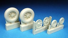 Barracuda Corsair & Hellcat Wheels, Diamond Tread for Tamiya Plastic Model Airplane Wheel 1/32 #32119