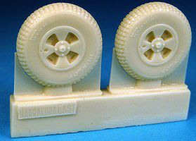 Barracuda DH Hornet /Sea Hornet Main Wheels (Resin) Plastic Model Aircraft Accessory 1/48 #48216