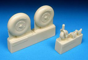 Barracuda 1/48 Boulton Paul Defiant Main & Tail Wheels (Resin)