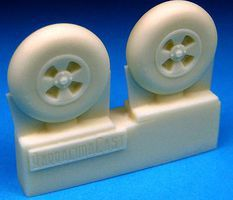 Barracuda Hawker Tempest Main Wheels, Smooth Tire Plastic Model Aircraft Accessory 1/72 #72221