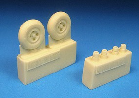Barracuda 1/72 Spitfire 4-Slot Main Wheels, Smooth Tires for EDU (Resin)