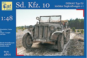 Blue-Cat 1/48 SdKfz 10 Demag Type D7 1t Leichter Zugkraftwagen