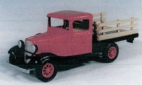 Berkshire 1934 Ford Shortbed Stake Truck - Kit - Undecorated O Scale Model Railroad Vehicle #201