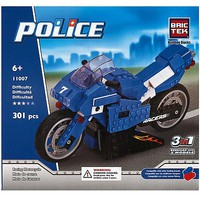 Brictek Police Racing Motorcycle 3 in 1