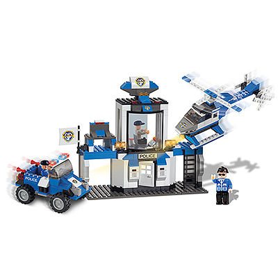 BRICTEK BUILDING BLOCKS Police Rescue Team 10 In 1 330pcs -- Building Block Set -- #11008