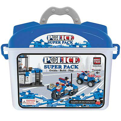 BRICTEK BUILDING BLOCKS Police Super Pack 550pcs -- Building Block Set -- #11015