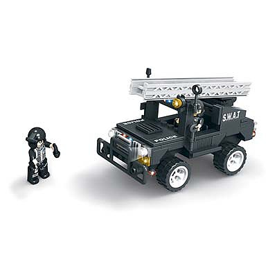 BRICTEK BUILDING BLOCKS Swat Jeep with Ladder 203pcs -- Building Block Set -- #11104