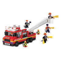 Brictek Fire Engine with Sound/Light 240pcs Building Block Set #11308