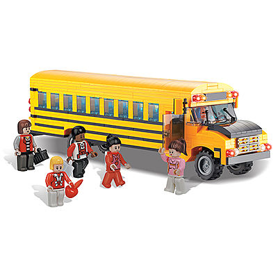 BRICTEK BUILDING BLOCKS School Bus 561pcs -- Building Block Set -- #11507