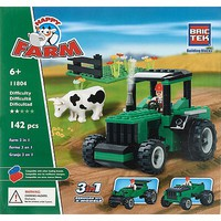 Brictek Farm Green Tractor 3-in-1